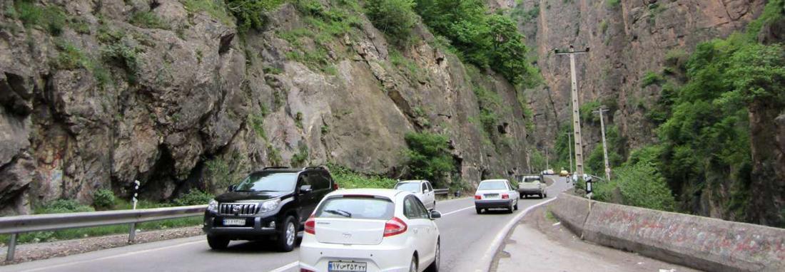 افزایش سفرها به شهرهای شمالی ، ترافیک سنگین در جاده کرج &ndash چالوس